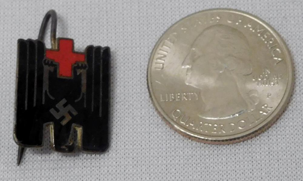 RARE Vintage 1930's DRK German Red Cross Membership Lapel Pin