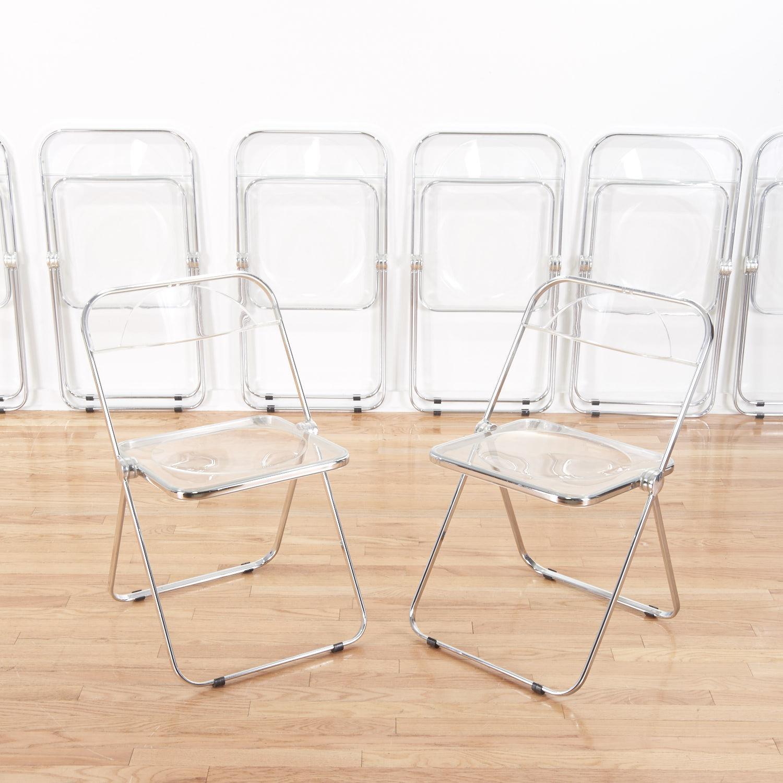Marvelous Set (8) Castelli Pila Lucite Folding Chairs