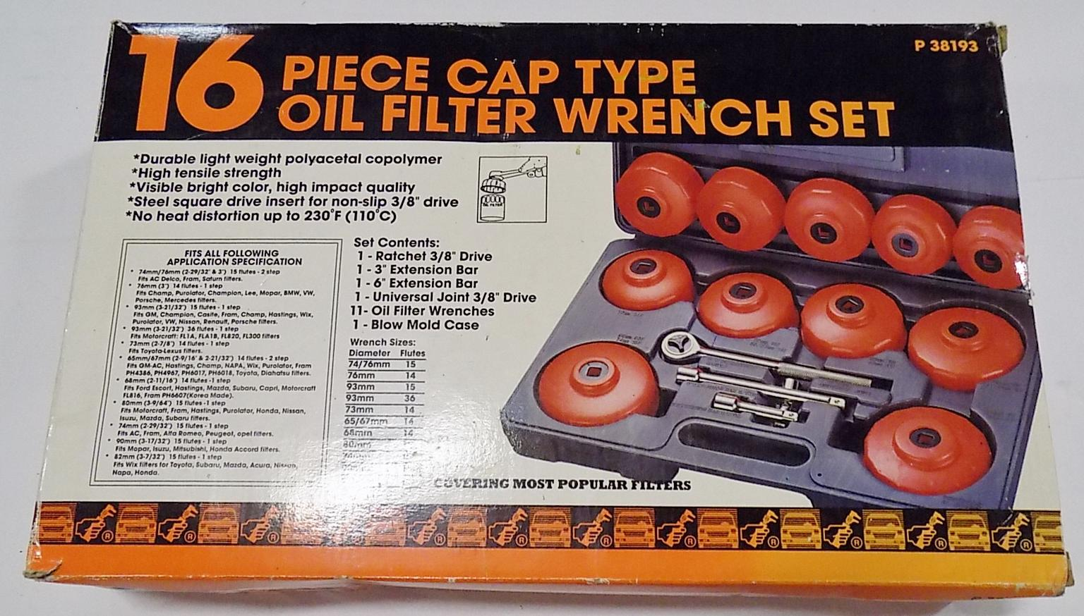 OIL FILTER WRENCH SET | Teel Auctions
