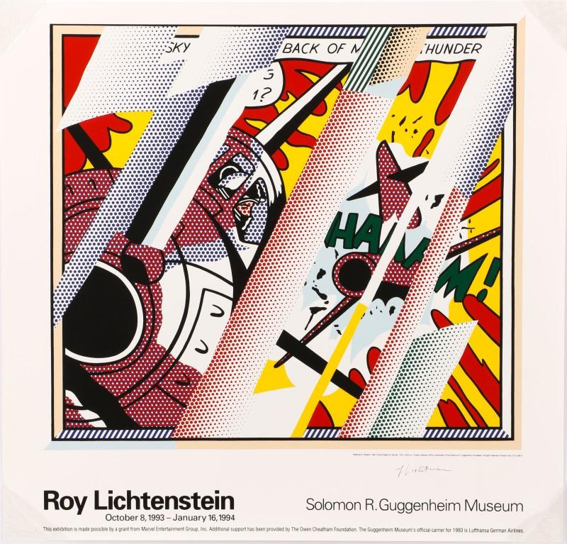 After Lichtenstein, Guggenheim Poster, \