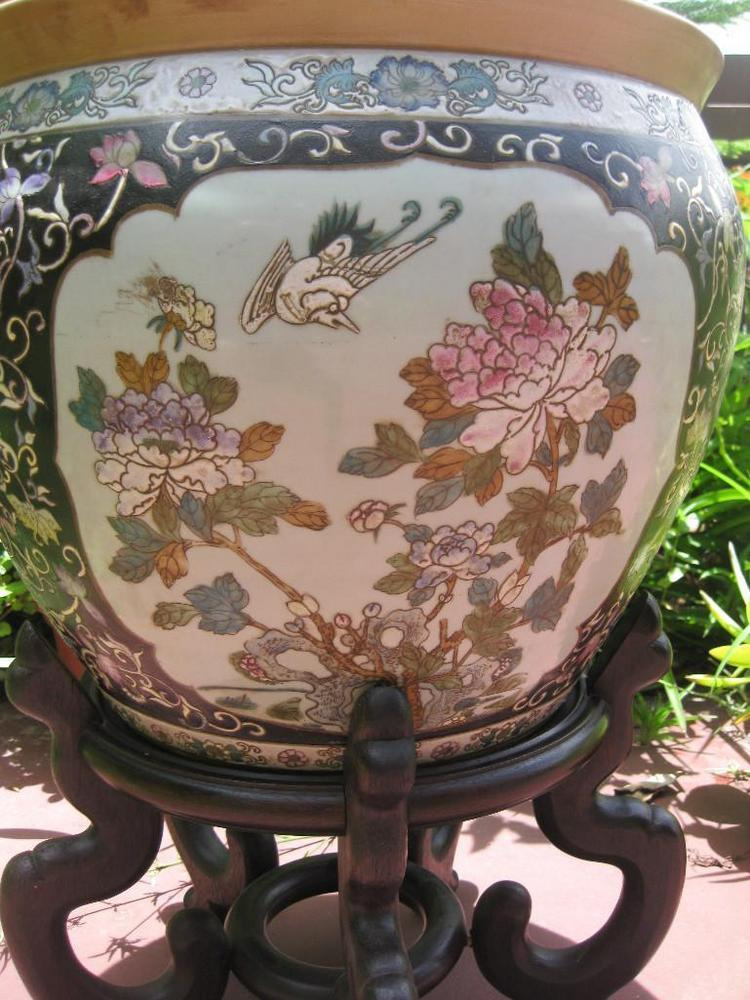 Chinese Porcelain Fish Bowl Jiaqing 1796 1820 Qing Dynasty