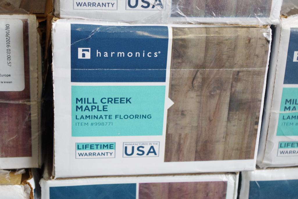 205 Sq Ft Harmonics Mill Creek Maple, Harmonics Mill Creek Maple Laminate Flooring