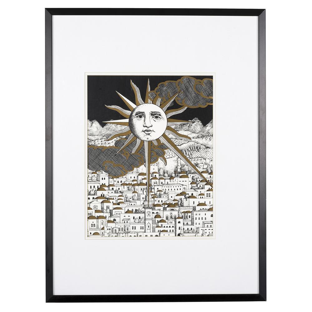 Fornasetti Art Prints Piero Fornasetti Sole A Gerusalemme Silk Screen Print Lofty