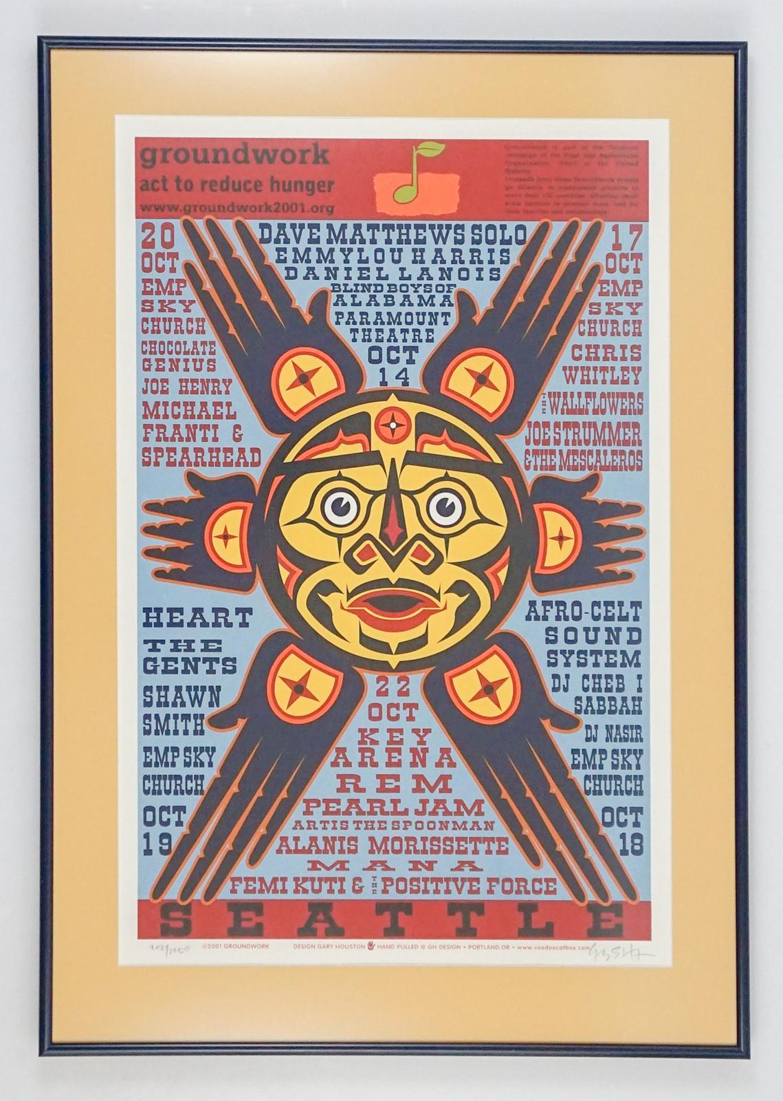 Gary Houston S/N Poster Pearl Jam Dave Matthews | Grant