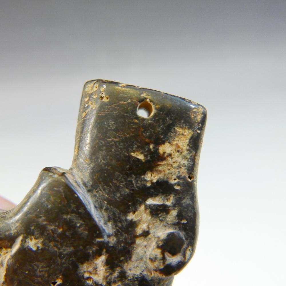 Antique chinese jade tiger pendant shang dynasty lofty marketplace mozeypictures Gallery