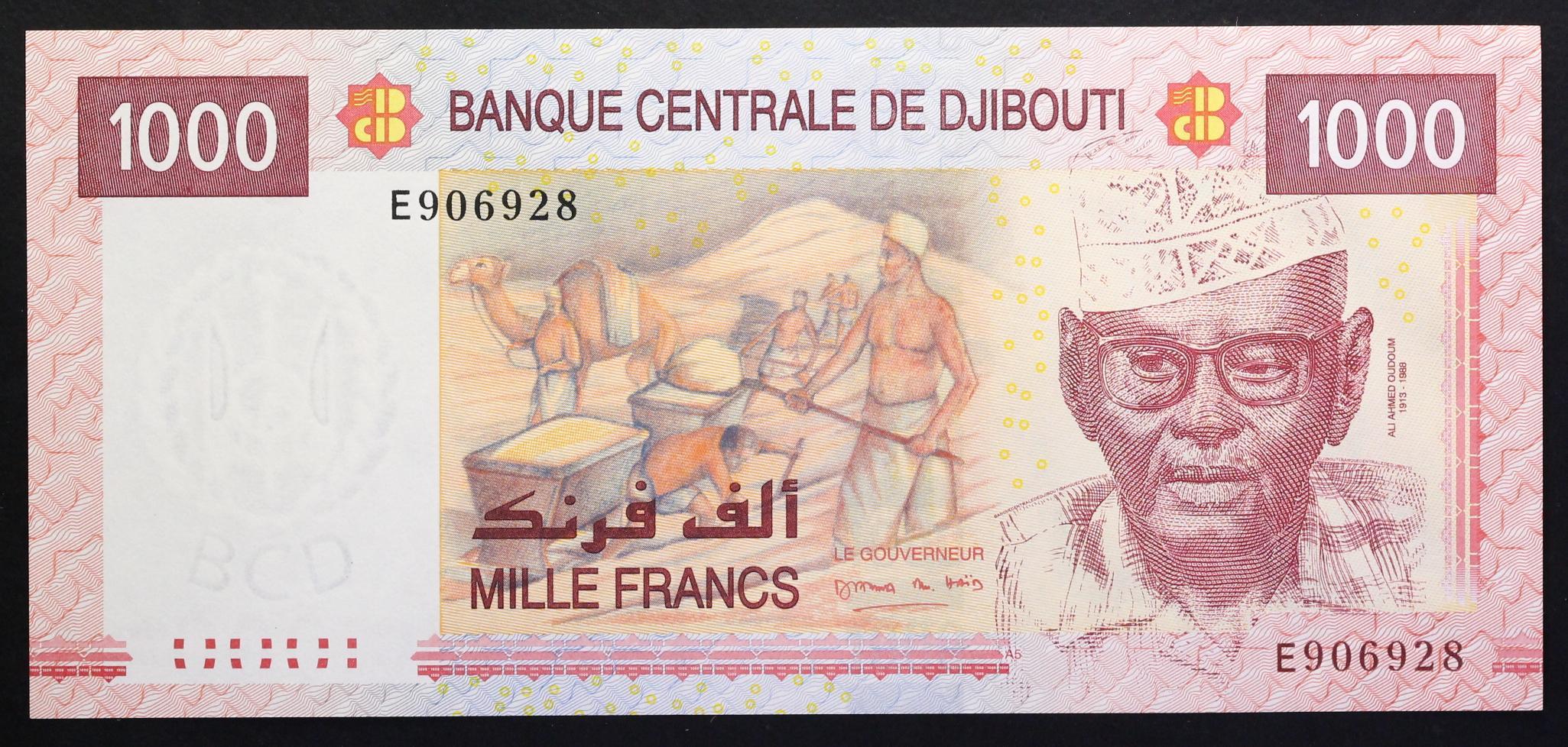 Djibouti 1000 Francs p-42 2005 UNC Banknote