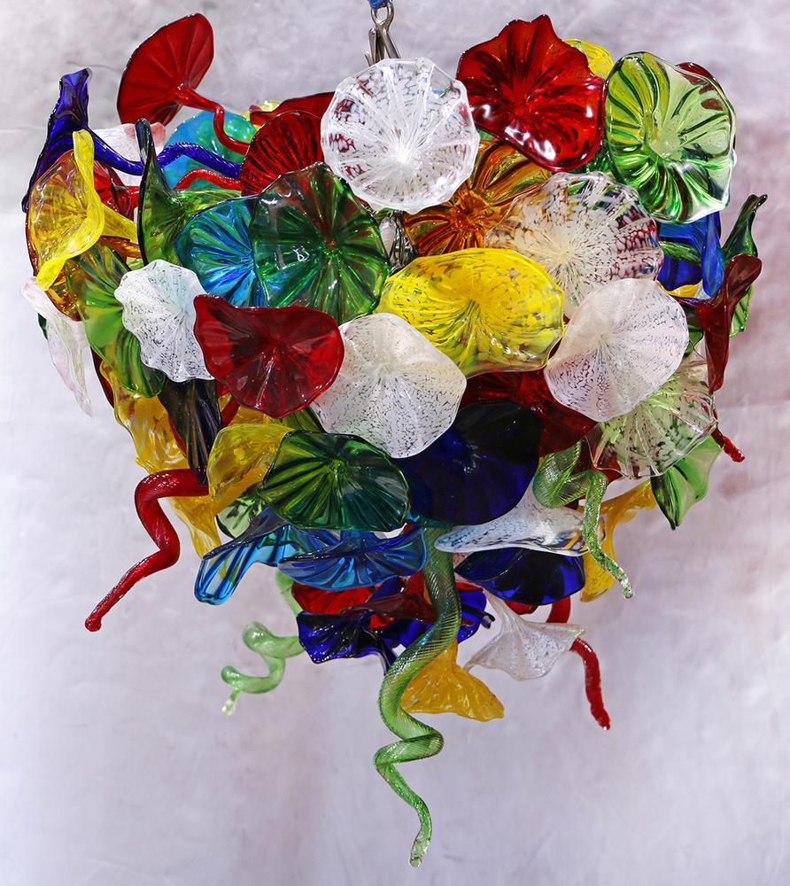 Dale Chihuly Style Art Glass Chandelier