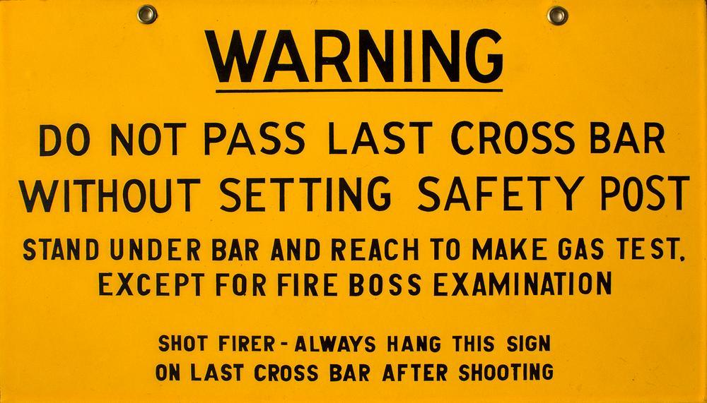 Blasting Warning Sign