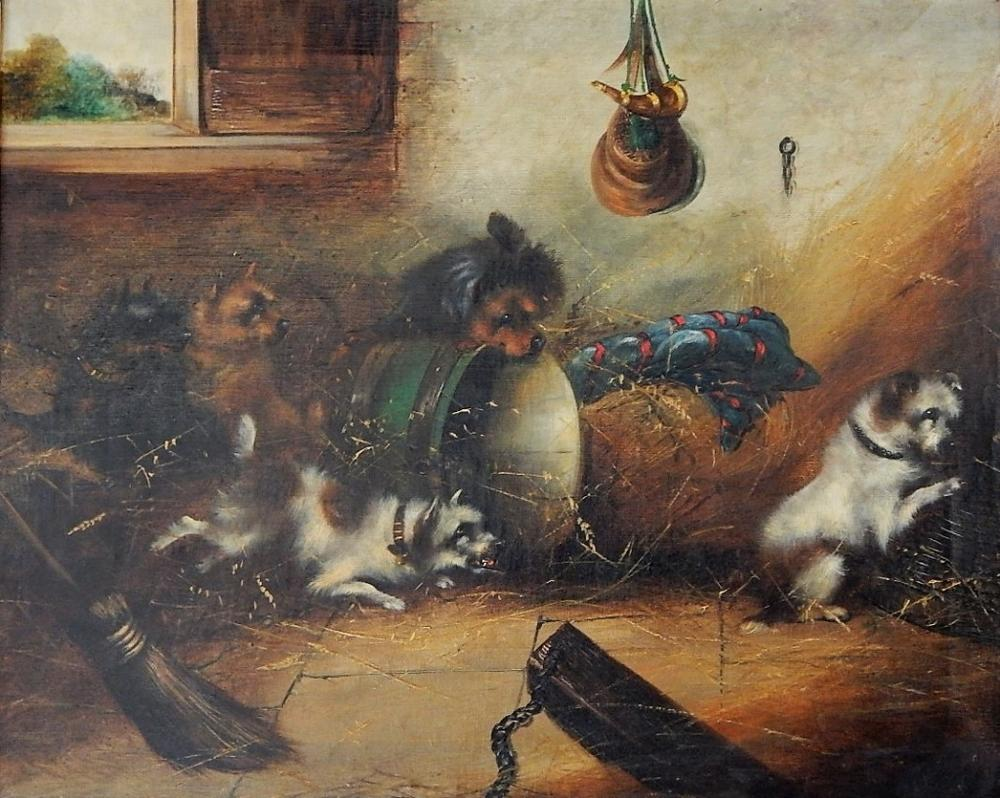 George Smith Armfield O/C Animal Genre Painting