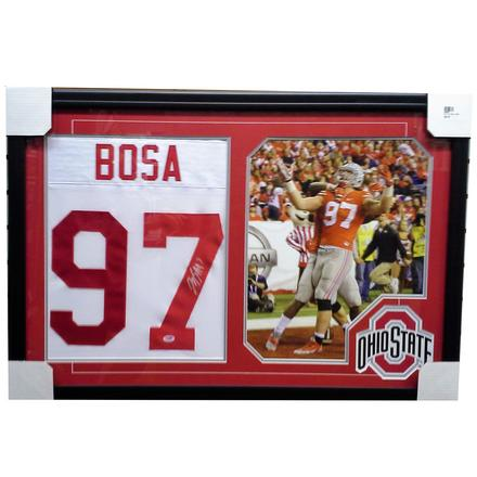 newest 91f34 f2316 Joey Bosa Autographed Ohio State Buckeyes Framed Jersey ...