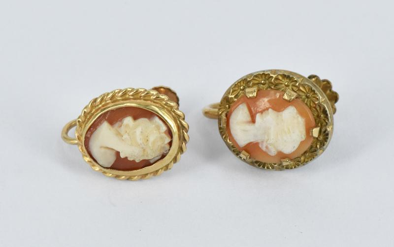 700acb114 A PAIR OF CAMEO SCREW BACK EARRINGS – Lofty Marketplace