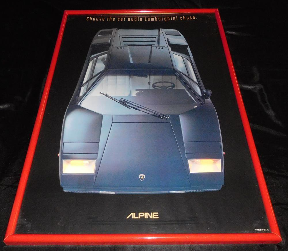 Vintage 1980s Lot Of 2 Alpine Car Stereo Lamborghini Countach The Framed Lofty Marketplace