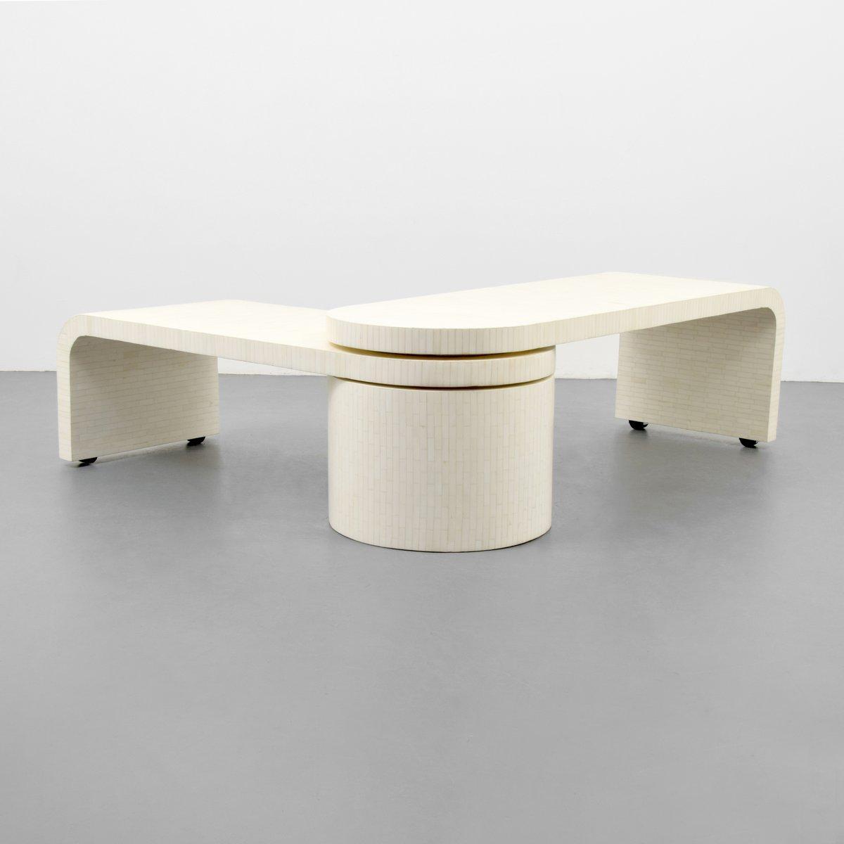 Tessellated Bone Coffee Table, Manner Of Karl Springer U2013 Lofty Marketplace