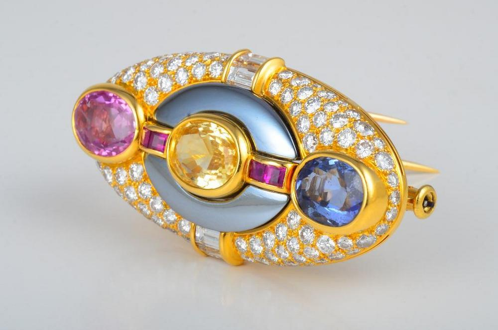 brooch jewellery gold bg sapphire products fine moira original