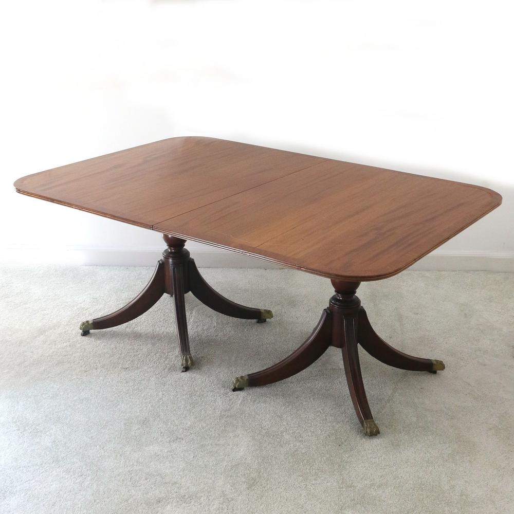Bespoke Solid Mahog Double Pedestal Dining Table