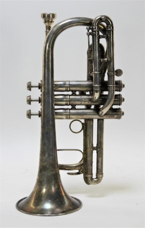 1907 C  G  Conn LTD Elkhart Cornet Director Horn