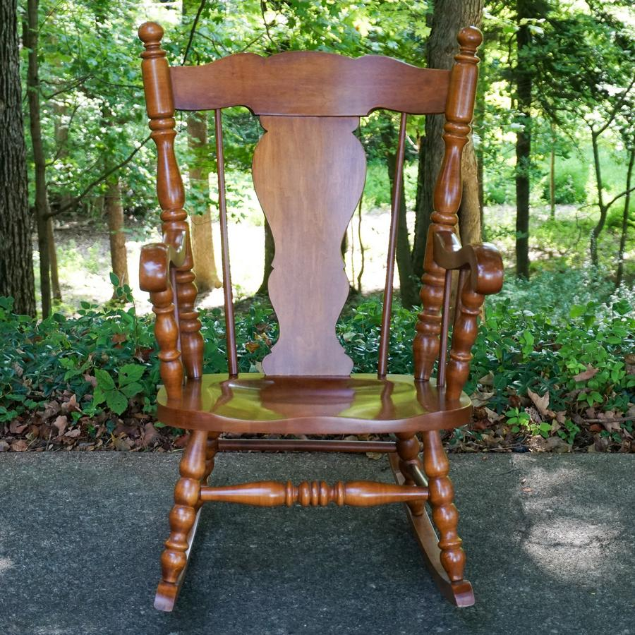 Strange Tell City Hard Rock Maple Rocker Harritt Group Inc Bralicious Painted Fabric Chair Ideas Braliciousco