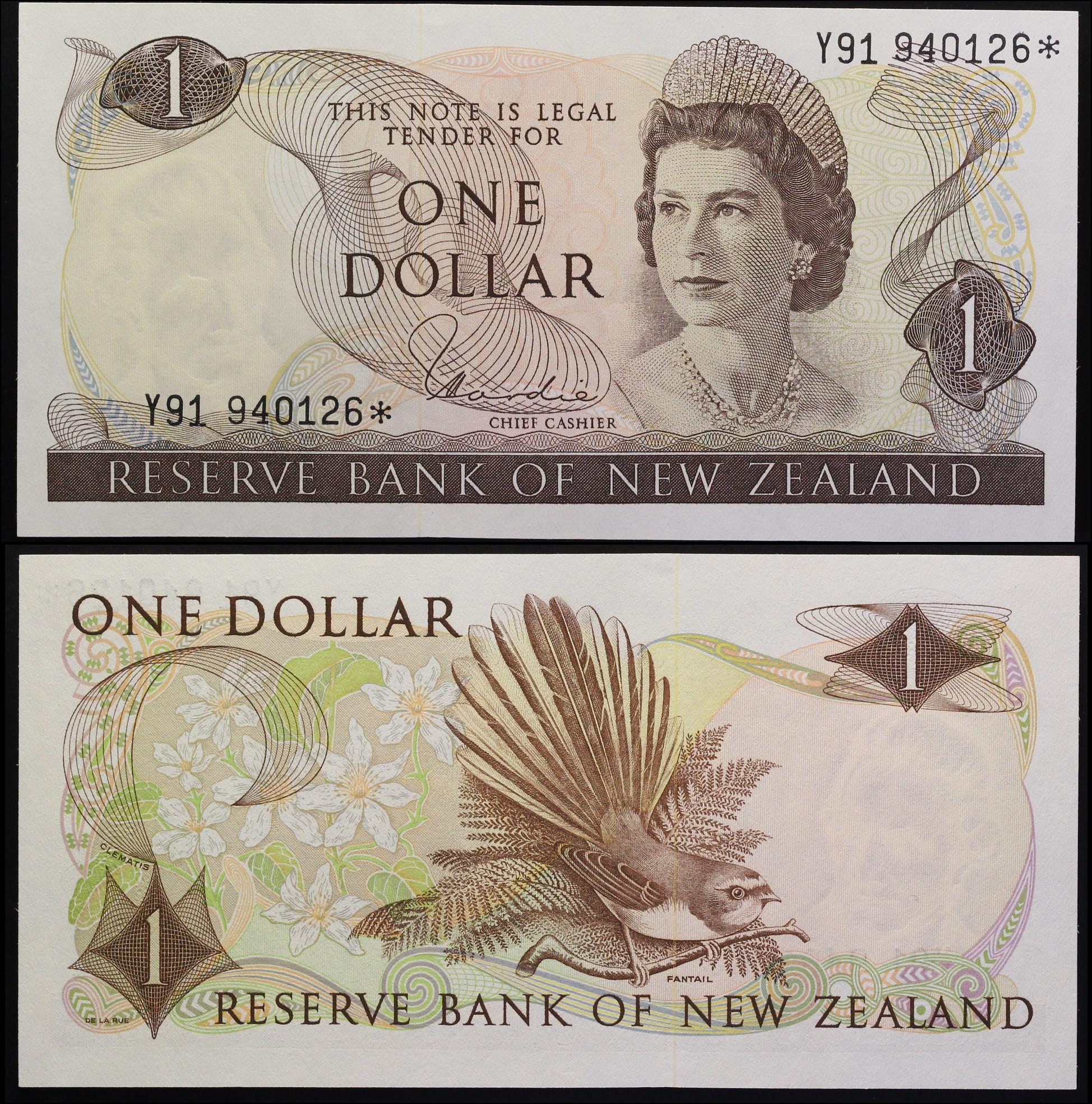 NEW ZEALAND 1 DOLLAR REPLACEMENT P 163 d HARDIE UNC