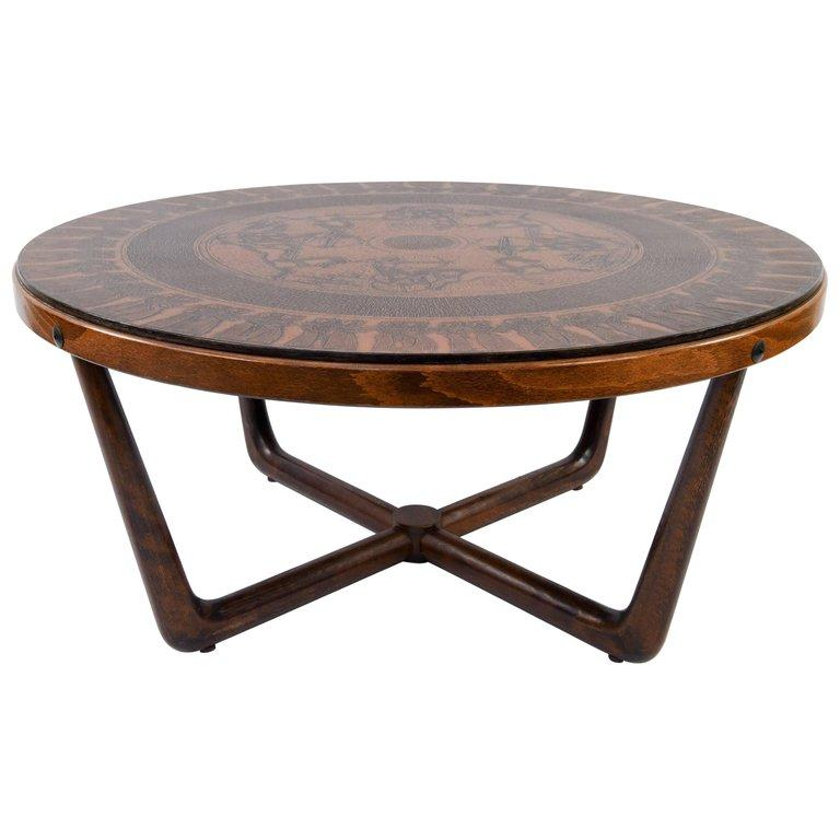 Vad Trevare Copper Egyptian Style Coffee Table