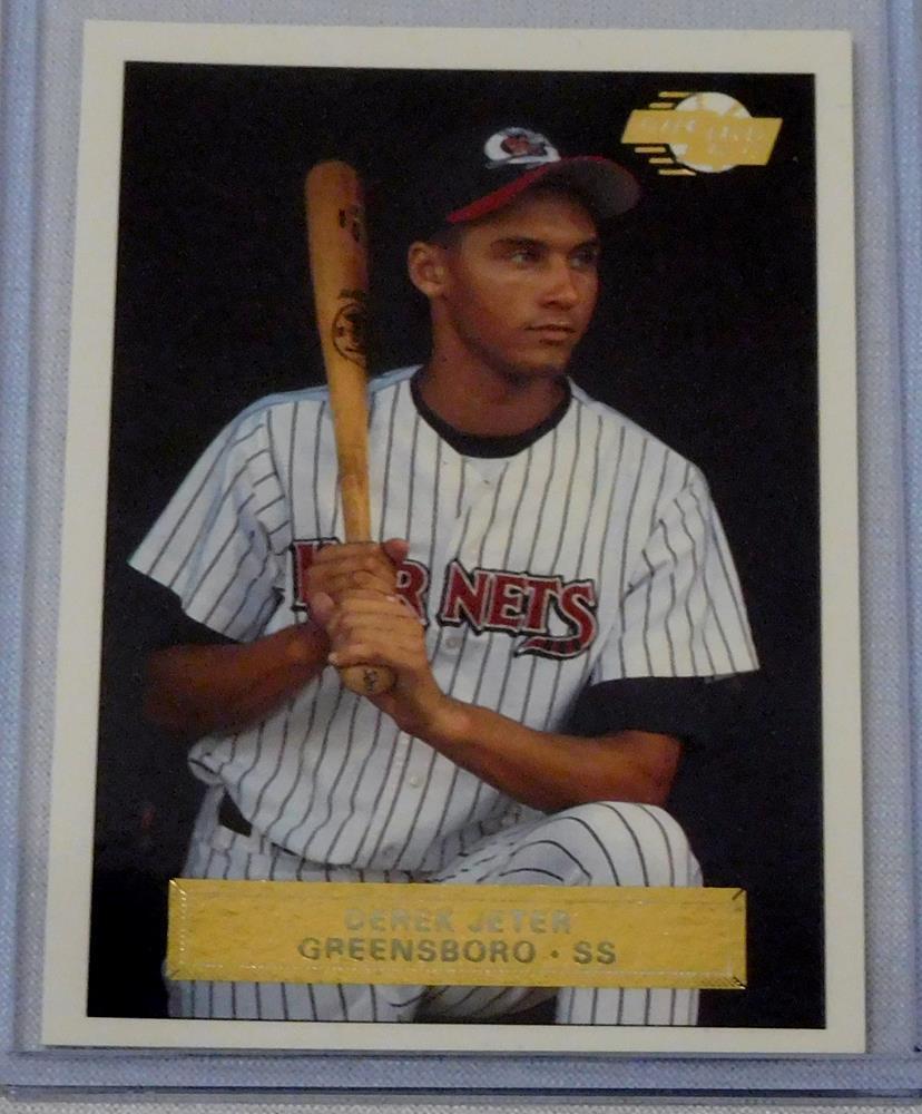 1992 1993 Fleer Excel Derek Jeter Greensboro Hornets 210 Rookie Card
